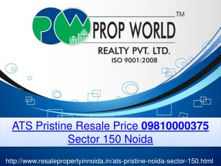 ATS Pristine Resale Price 09810000375 Sector 150 Noida