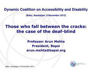 Those who fall between the cracks: the case of the deaf-blind
