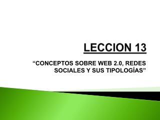 LECCION 13