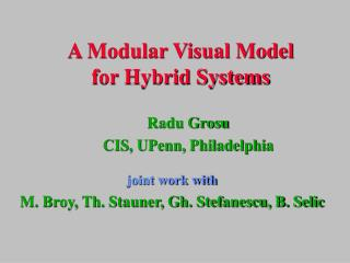 A Modular Visual Model for Hybrid Systems