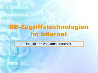 DB-Zugriffstechnologien im Internet