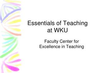 Essentials of Teaching at WKU