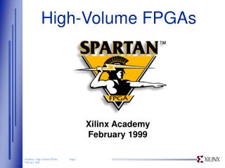 High-Volume FPGAs