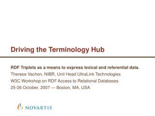 Driving the Terminology Hub