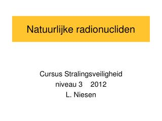 Natuurlijke radionucliden