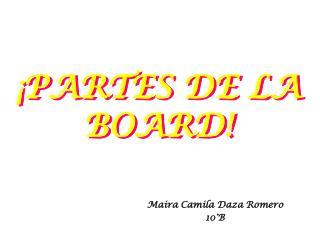 ¡PARTES DE LA BOARD!