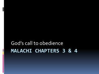 Malachi chapters 3 & 4