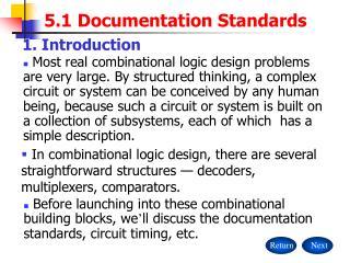 5.1 Documentation Standards