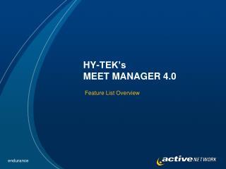 HY-TEK s MEET MANAGER 4.0