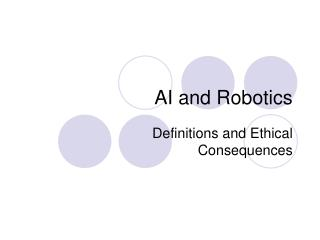 AI and Robotics