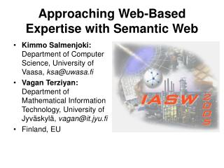 Approaching Web-Based Expertise with Semantic Web