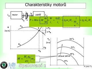 Charakteristiky motorů