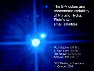 The B-V colors and  photometric variability  of Nix and Hydra,  Pluto's two  small satellites