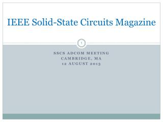IEEE Solid-State Circuits Magazine