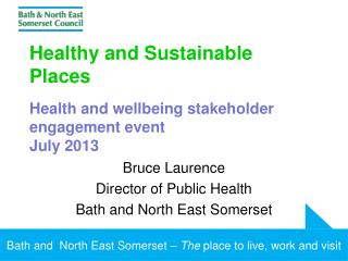 Healthy and Sustainable Places Health and wellbeing stakeholder engagement event  July 2013