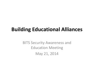 Building Educational Alliances