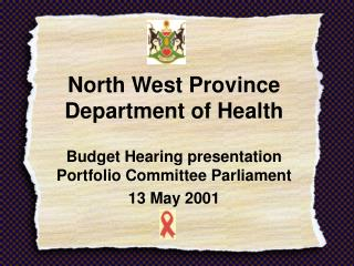 North West Province Department of Health