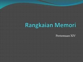 Rangkaian Memori
