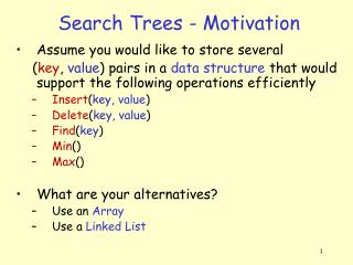 Search Trees - Motivation