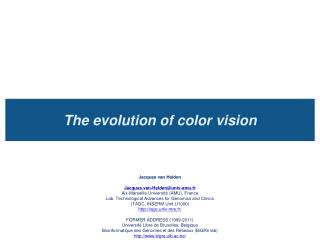 The evolution of color vision