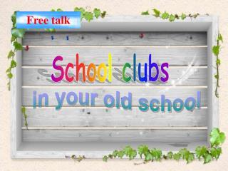 School clubs
