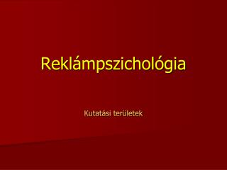 Rekl ámpszichológia