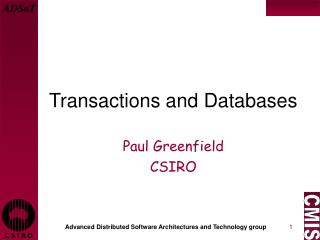 Transactions and Databases
