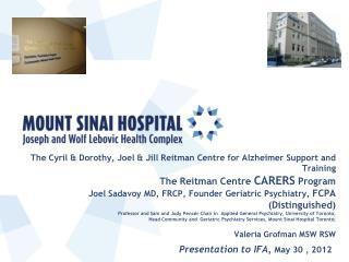 Presentation to IFA,  May 30 , 2012