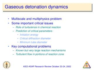 Gaseous detonation dynamics