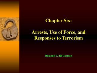 Chapter Six:  Arrests, Use of Force, and Responses to Terrorism