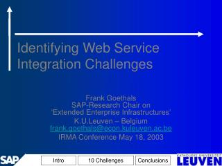 Identifying Web Service Integration Challenges