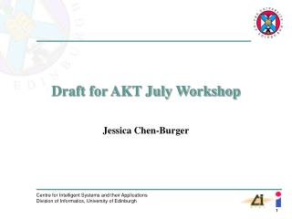Draft for AKT July Workshop