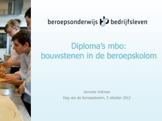 Diploma's mbo: bouwstenen in de beroepskolom