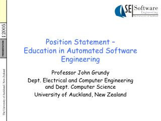 Position Statement – Education in Automated Software Engineering