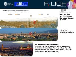 Studi percettivi dell'ufficio Centro Storico del Comune di Firenze