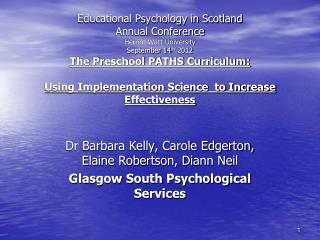 Dr Barbara Kelly, Carole Edgerton, Elaine Robertson, Diann Neil