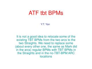 ATF tbt BPMs