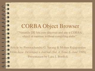 CORBA Object Browser