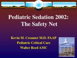 Pediatric Sedation 2002:  The Safety Net