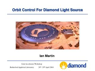 Orbit Control For Diamond Light Source