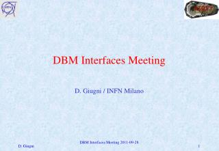 DBM  Interfaces Meeting