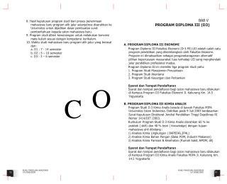 8. Hasil keputusan program studi dari proses penerimaan