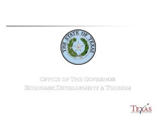 O FFICE OF  T HE  G OVERNOR E CONOMIC  D EVELOPMENT &  T OURISM