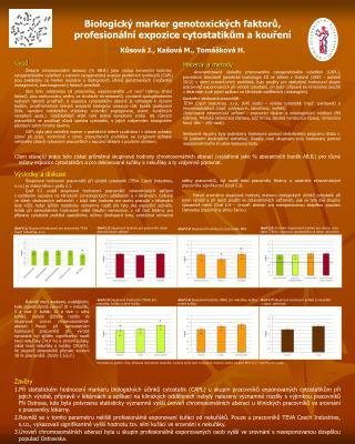 Biologický marker genotoxických faktorů, profesionální expozice cytostatikům a kouření