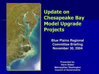 Update on Chesapeake Bay Model Upgrade Projects