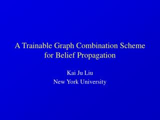 A Trainable Graph Combination Scheme for Belief Propagation