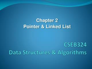CSEB324 Data Structures & Algorithms