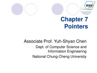 Chapter 7 Pointers
