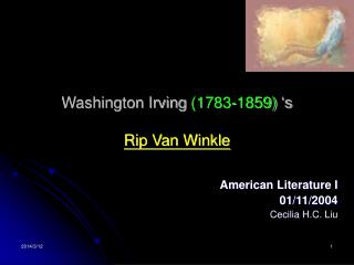 Washington Irving 1783-1859  s   Rip Van Winkle