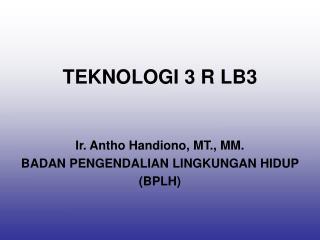 TEKNOLOGI 3 R LB3